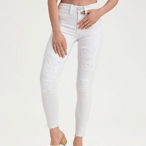 American Eagle Next Level Stretch White Jeans